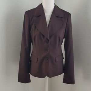 NWOT bebe blazer chocolate brown sz 8